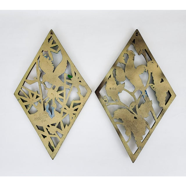 American Mid Century Carved Bird Wall Hangings - a Pair For Sale - Image 3 of 5