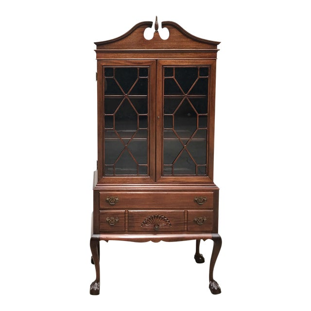 Mahogany Chippendale Style Ball & Claw Cabinet - Image 1 of 6