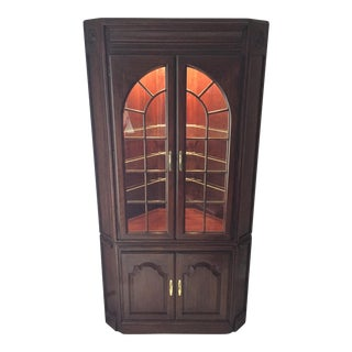 Harden Lighted Corner Cabinet