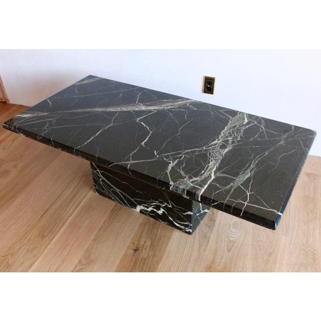 Sculptural Mid-Century Italian Vert d'Egypt Green Marble Pedestal Coffee Table For Sale - Image 13 of 13