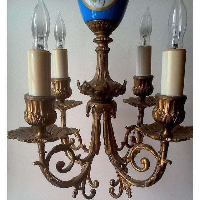 Blue Pair of Beautiful Floral Pendant Lights or Sconces For Sale - Image 8 of 10
