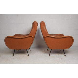 Pair of Vintage Modern Italian Style Lounge Chairs Preview
