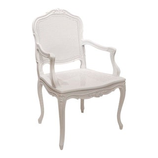 1960s Antique Queen Ann Canning Armchair For Sale