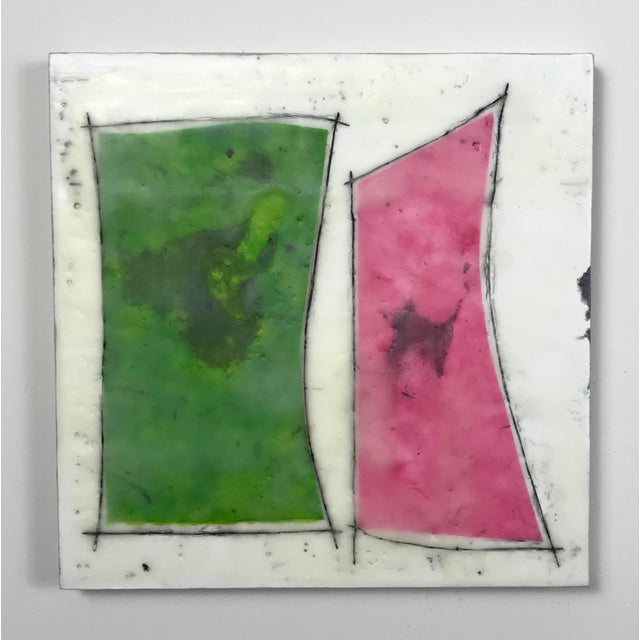 "Encaustic Gina Cochran ""Road Trip"" Encaustic Collages - 16 Pieces For Sale - Image 7 of 13"