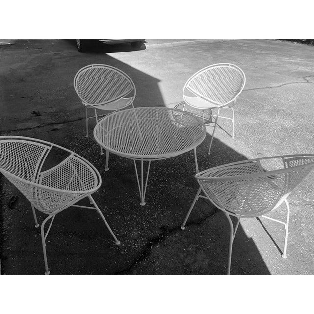 Mid-Century Modern Tempestini Salterini 4 Radar Hoop Chairs and Cocktail Table - Set of 5 For Sale - Image 3 of 13