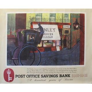 1961 Original British Poster, Post Office Savings Bank For Sale