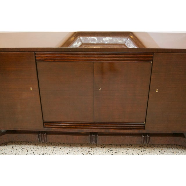 French Art Deco Mahogany Buffet Cabinet For Sale - Image 10 of 11