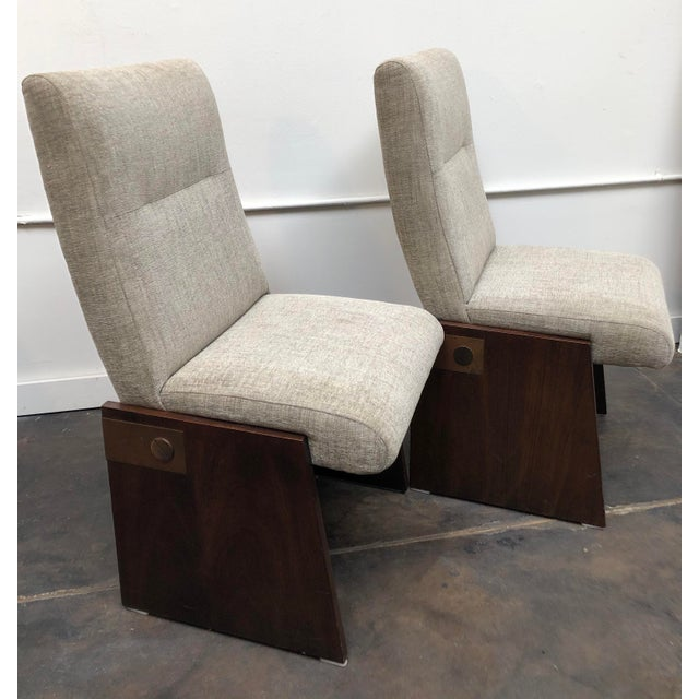 Mid-Century Modern Lane Brutalist Side Chairs- A Pair For Sale - Image 12 of 12