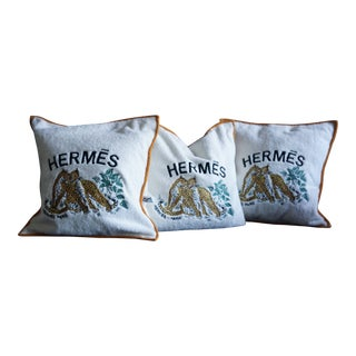 Hermes Cushion Covers - Set of 3 For Sale