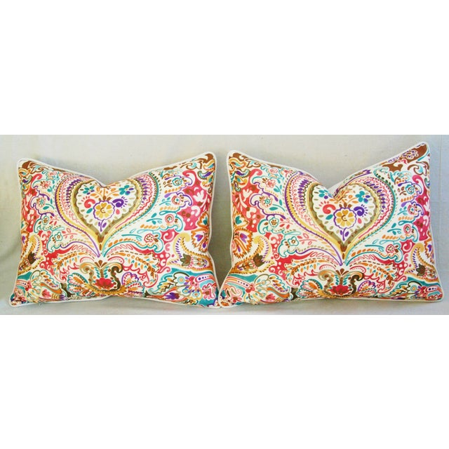 Custom Colorful Cotton & Linen Pillows - Pair - Image 6 of 11