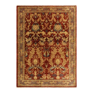 Istanbul Philomen Rust/Tan Turkish Hand-Knotted Rug -4'10 X 6'11