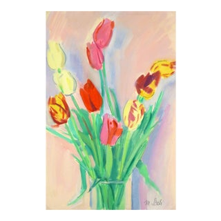 French Watercolor Painting - Tulip, C. 1960