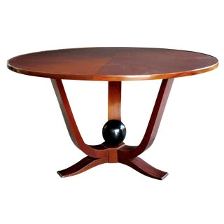 A Large-Scaled French Art Deco Mahogany Circular Cocktail Table For Sale