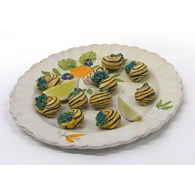 Italian Mid-20th Century Italian Trompe-L'œil Plate of Escargots For Sale - Image 3 of 11