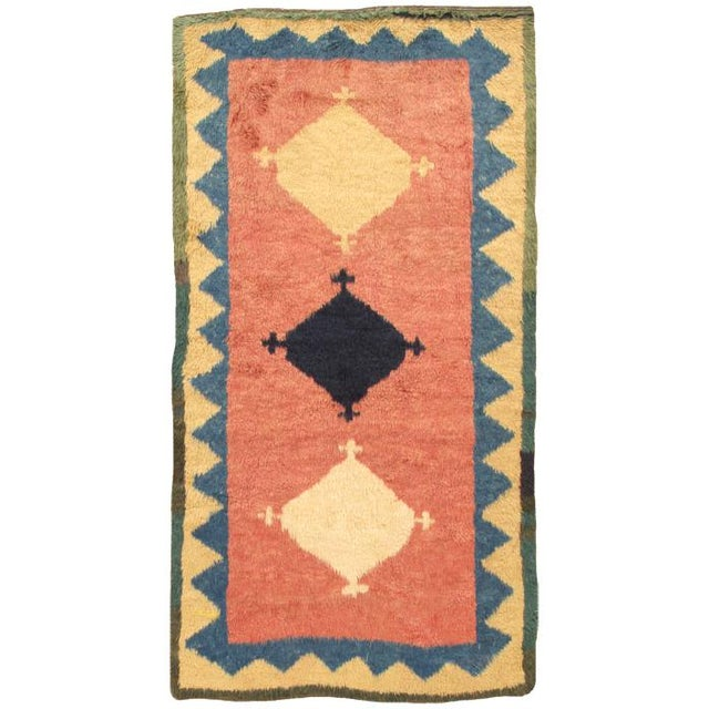 "Transitional Modern Pasargad Home Gabbeh Wool Area Rug- 4' 1"" X 7' 5"" For Sale - Image 3 of 3"
