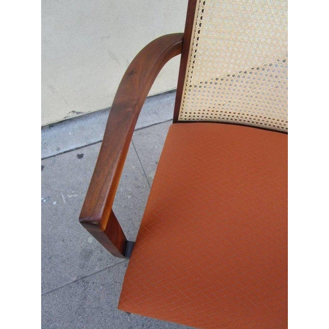 Mid-Century Modern Caned Back Dining Chairs by Milo Baughman - Set of 6 For Sale - Image 3 of 7