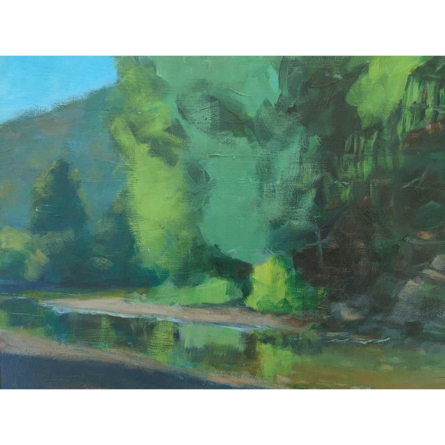 Contemporary Original Painting of a River in Vermont For Sale - Image 3 of 6