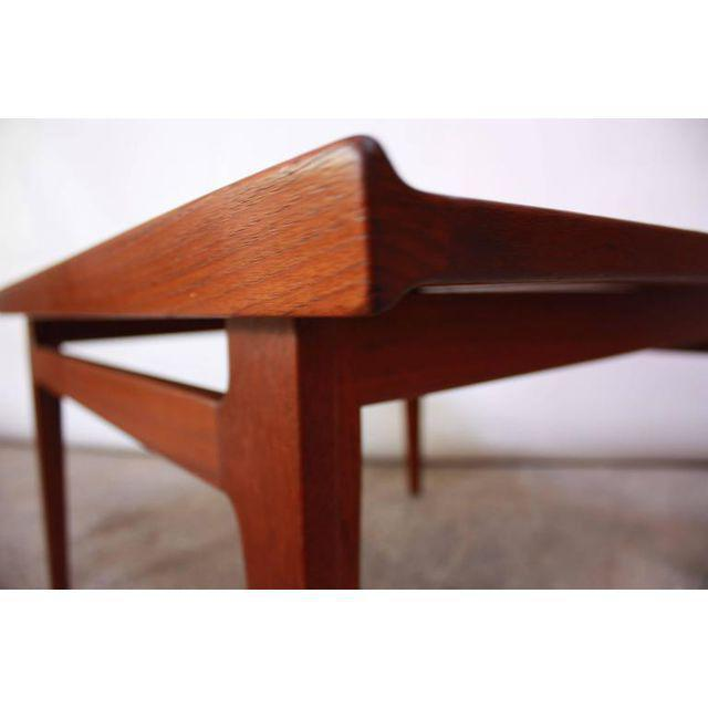 Yellow Early Finn Juhl for France and Daverkosen Teak Coffee Table For Sale - Image 8 of 11