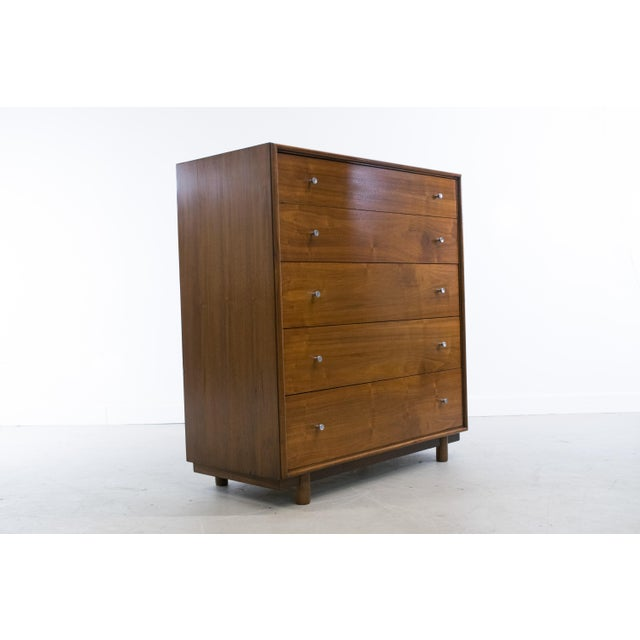 Mid-Century Modern Walnut Chest of Drawers by Ramseur For Sale - Image 9 of 11