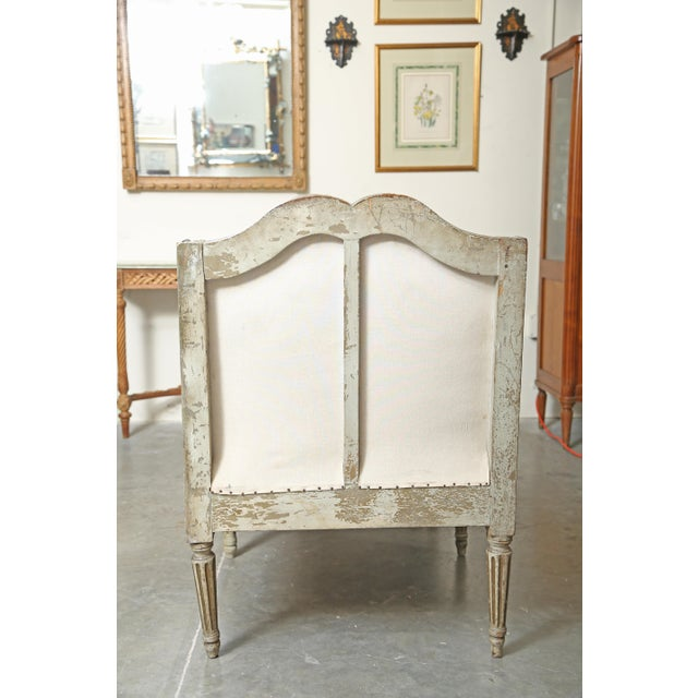 Late 18th Century Louis XVI Chaise in Original Paint For Sale - Image 5 of 9