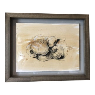 Market Garlic by Rick Sargent Drawing For Sale