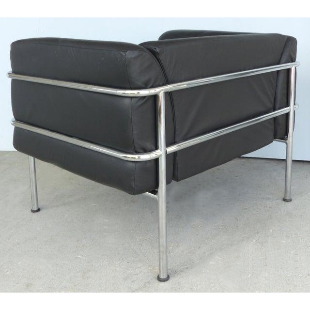 Awe Inspiring Kebe Of Denmark Leather Chrome Club Chair Theyellowbook Wood Chair Design Ideas Theyellowbookinfo