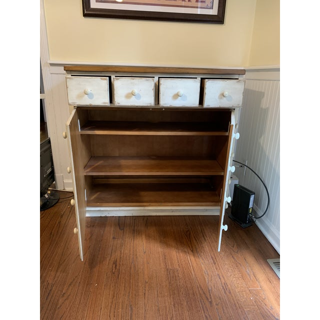 Rustic Andover Rustic Pottery Barn Cabinet For Sale - Image 3 of 6