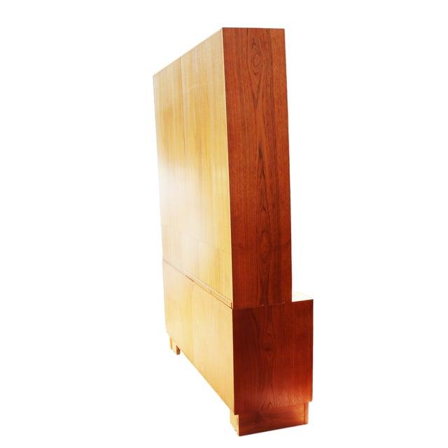 Danish Modern Teak Sideboard Hutch For Sale - Image 4 of 5