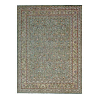 "Pasargad Tabriz Wool Area Rug - 7'11"" x 10' 9"" For Sale"