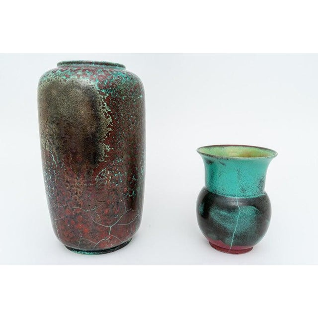 This stylish set of glazed pottery urns were created by the artist Richard Uhlemeyer in the late 1940s and they were...