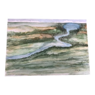 """Meandering"" Original Landscape Watercolor Painting For Sale"