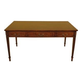 Wood & Hogan English Mahogany Leather Top Desk