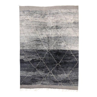 Grey Moroccan Rug with Modern Style