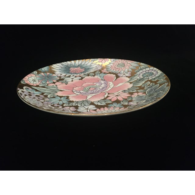 Toyo Chinoiserie Plate in Golds & Pinks For Sale - Image 4 of 9