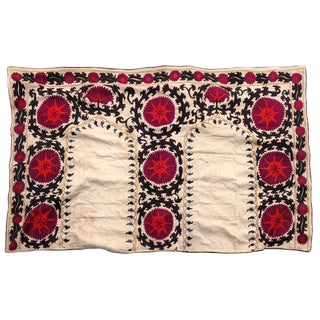 Antique Double Joynamoz Suzani Embroidery For Sale