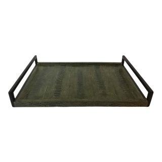 R & Y Augousti Green Snakeskin Tray For Sale