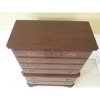 1980s Vintage Ethan Allen Georgian Court Cherry High Chest of Drawers Preview