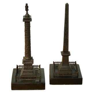 Grand Tour Models of Trajan's Column & Cleopatra's Needle, a Pair For Sale
