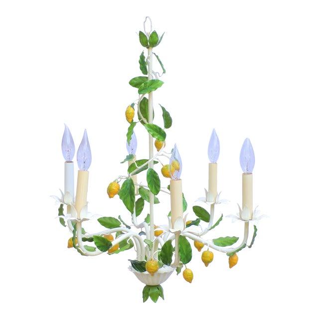 Vintage Italian Lemon Tree Chandelier For Sale