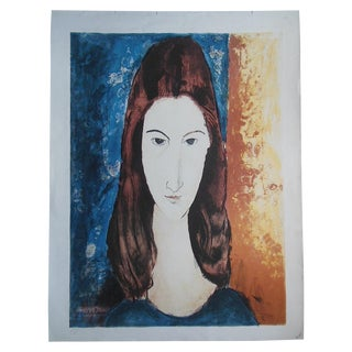 Mid-Century Modern Modigliani Lithograph For Sale