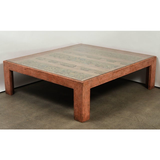 Mid 20th Century Moroccan Handcrafted Large Square Coffee Table For Sale - Image 5 of 10