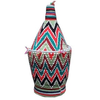 Large Woven Moroccan Basket For Sale