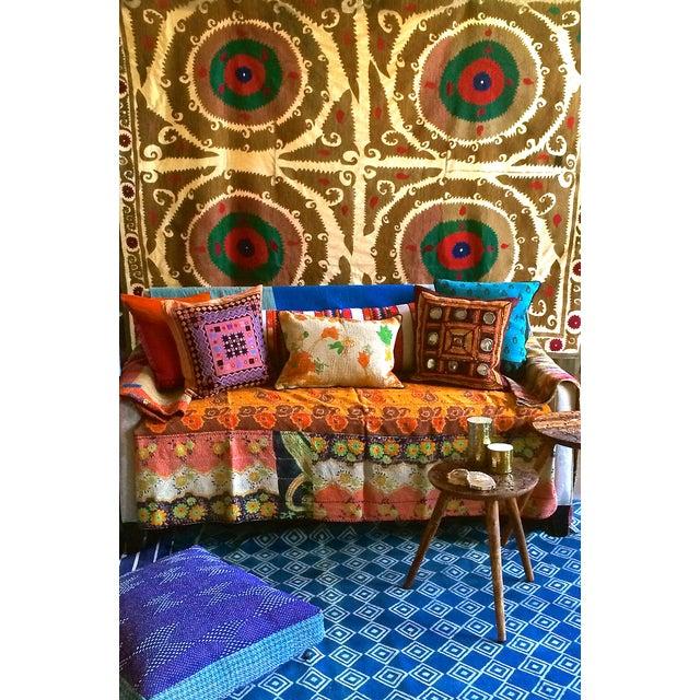 Boho Chic Vintage Kantha Pillow For Sale - Image 3 of 3