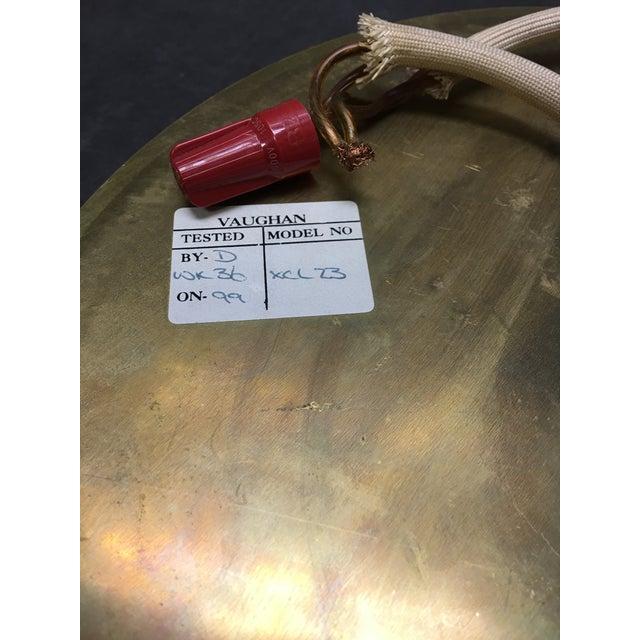 1990s Vaughan Regency Style Brass Greek Key Flush Mount For Sale - Image 5 of 6