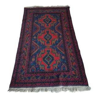 Contemporary Tribal Area Rug - 3′7″ × 1″ For Sale