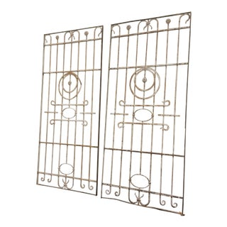 Pair Antique Iron Gates - A Pair