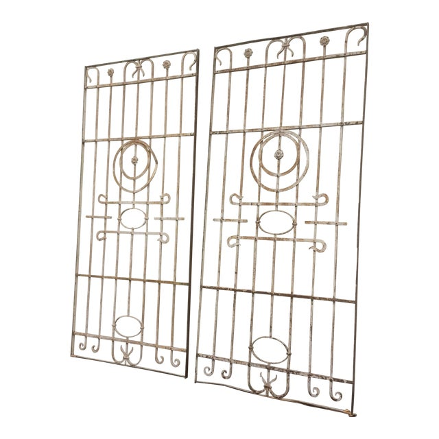Pair Antique Iron Gates - A Pair For Sale