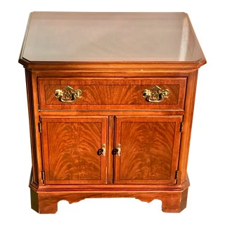Drexel Heritage Chippendale Cherry Wood Nightstand For Sale