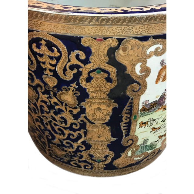 19th Century 19th Century Chinese Cobalt Porcelain Fishbowl For Sale - Image 5 of 6