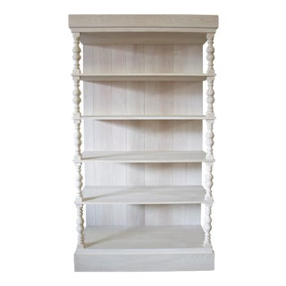 Boho Chic Bleached Beech Wood Bookcase